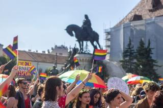 Pride-felvonulás Kolozsváron