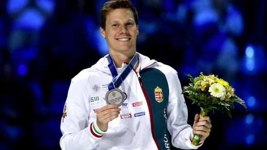 Szatmári András ezüstérmet nyert budapesti vívó-vb-n