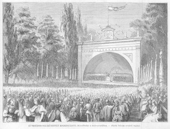 Zengő ünnepély: dalárdák találkozója Kolozsváron, 145 éve