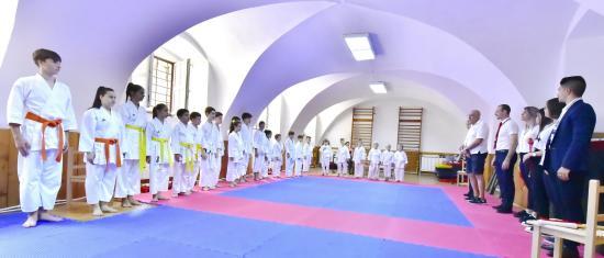 Sendo-Ryu Karate-Do verseny a Báthory tornatermében