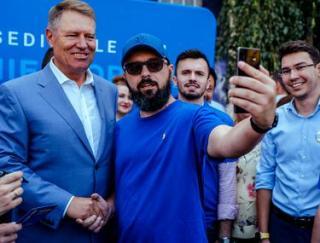 Iohannis a fiatalok mellett