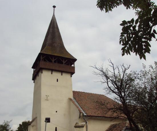 Kigyulladt Bethlenszentmiklós unitárius templomának tornya
