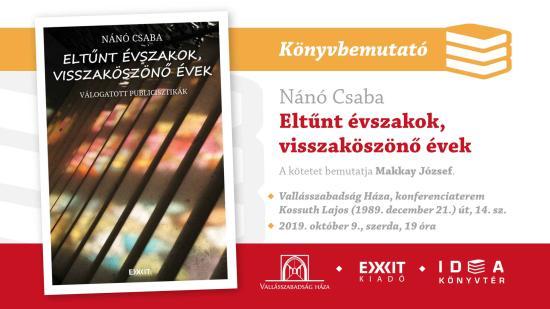 VIDEÓ - Születésnapján mutatták be Nánó Csaba új kötetét