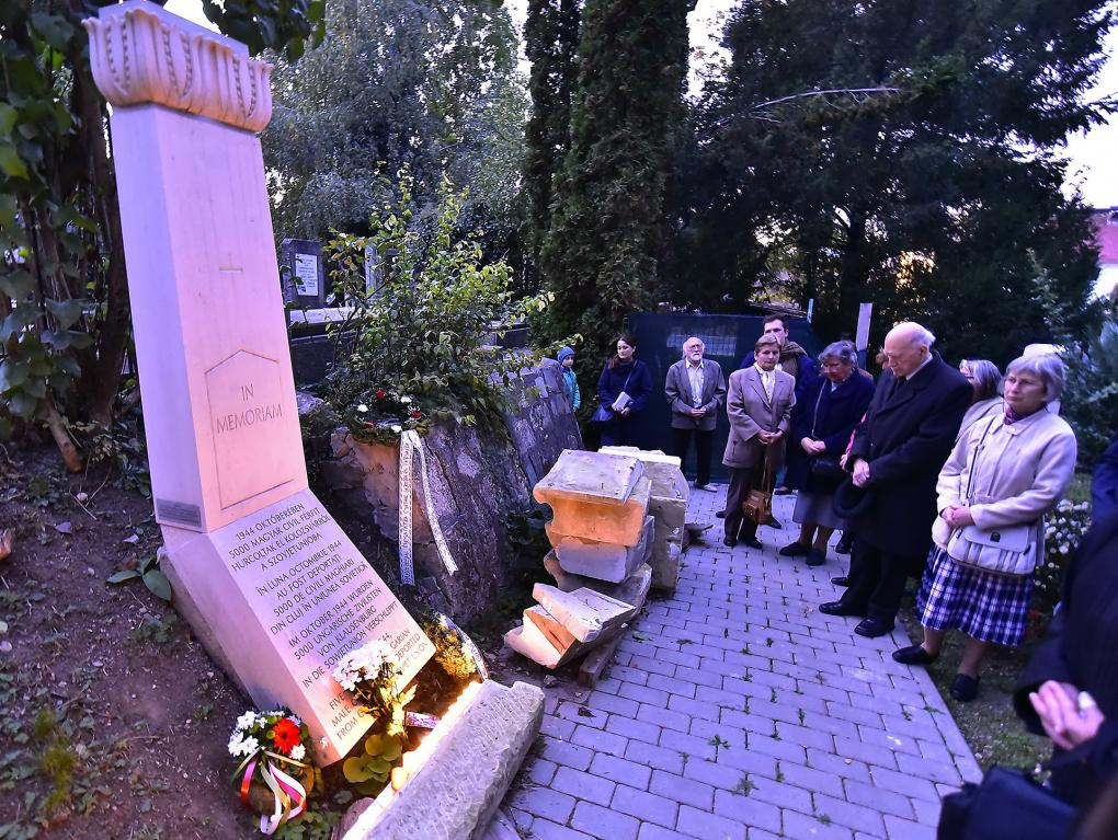 A Kolozsvárról 1944 októberében elhurcolt férfiakra emlékeztek