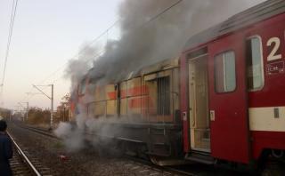 Kigyulladt a Kolozsvárról Bécsbe tartó vonat mozdonya