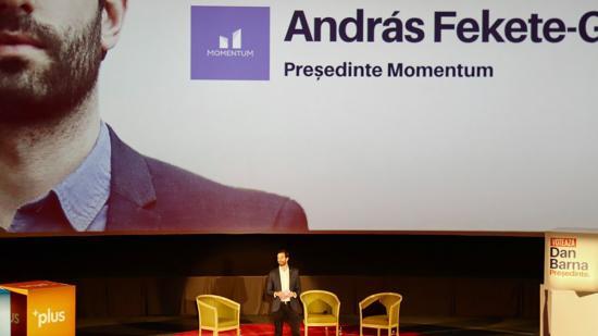 Barnának és az USR-nek kampányol a magyarországi Momentum elnöke Erdélyben - RMDSZ-reakció