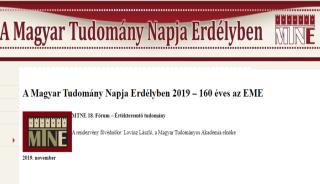 A Magyar Tudomány Napja Erdélyben