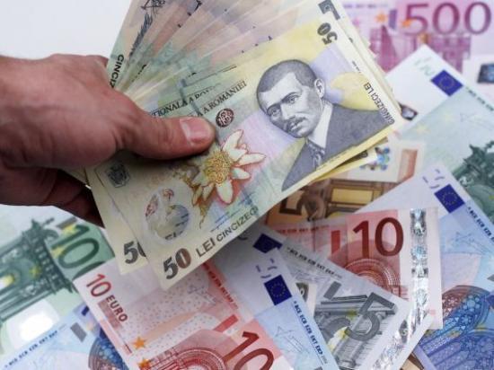Erősödött az euró, gyengült a lej