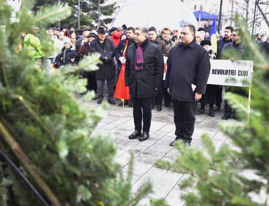 Emlékezés Kolozsváron mártír forradalmárokra, mellékepizóddal