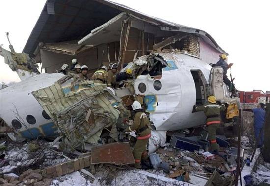 Repülőgép-szerencsétlenség Kazahsztánban