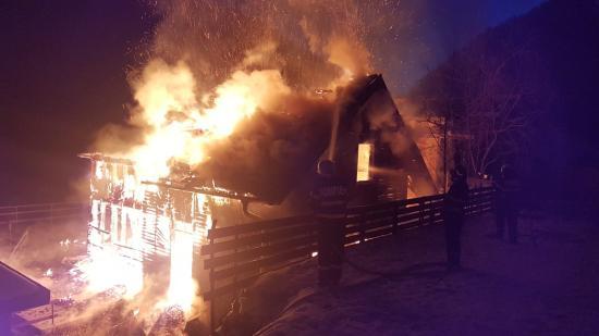 Leégett egy hétvégi ház Havasnagyfaluban