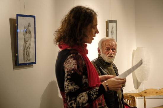 Megnyílt Vetró András első kávéházi kiállítása