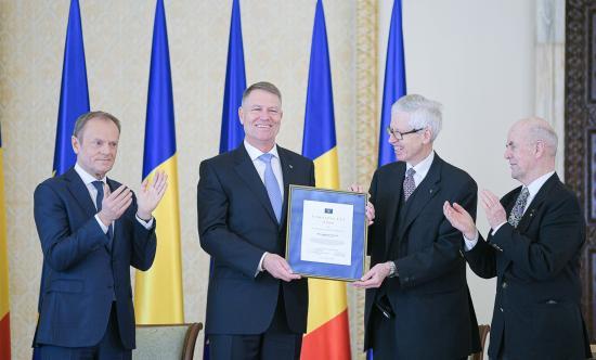 Coudenhove-Kalergi Európa-díjjal tüntették ki Klaus Iohannist