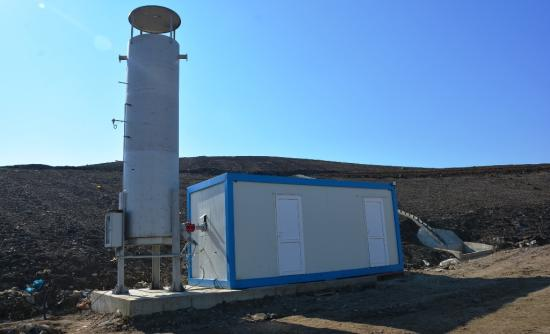 Biogázt semlegesítenek a Pataréten