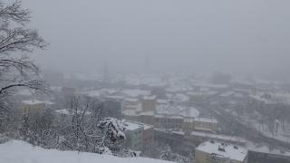 VIDEÓ - Ilyen volt Kolozsvár a Fellegvárról hétfő délután