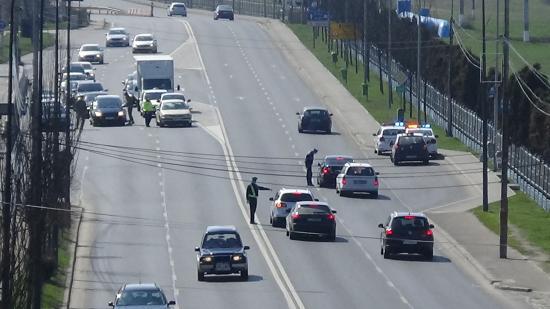VIDEÓ – Szigorú közúti ellenőrzés Kolozsvár nyugati ki- és bejáratánál