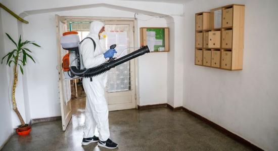 Tömbház-fertőtlenítés április 10-én