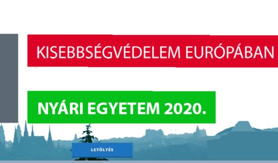 Lehet jelentkezni a Kisebbségvédelem Európában nyári egyetemre