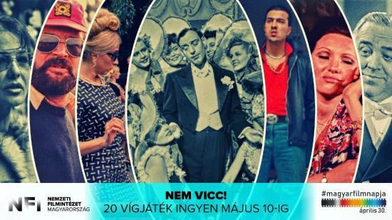 Húsz magyar vígjáték ingyenesen elérhető a magyar film napja alkalmából
