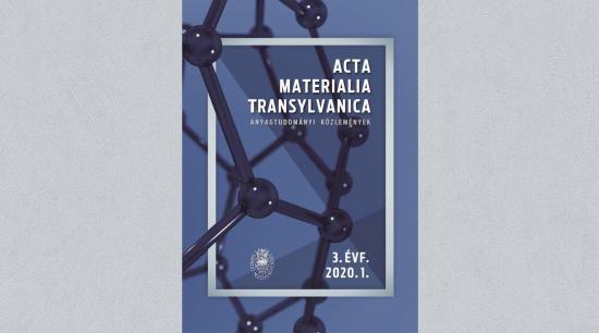 Megjelent az Acta Materialia Transylvanica idei első száma