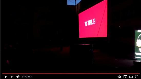 VIDEÓ - Késő esti TIFF-vetítés a Coşbuc-líceum udvarán