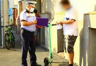 Rollerezőket és bringásokat ellenőriznek Kolozsváron