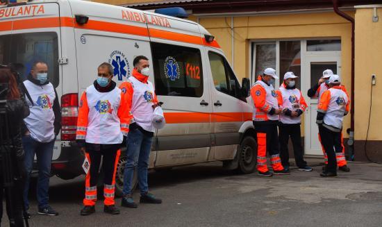 Jobb munkafeltételekért tüntettek a mentősök