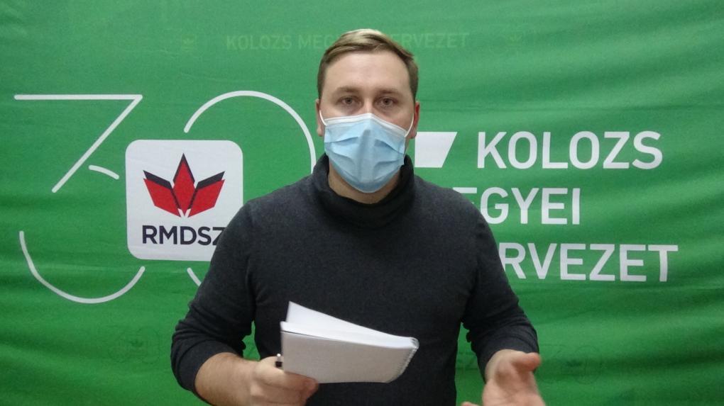 Antal Géza, az RMDSZ Kolozs megyei szervezetének ügyvezető elnöke nyilatkozik