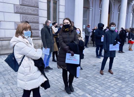 Kollégájuk elítélése ellen tiltakoztak az ügyvédek