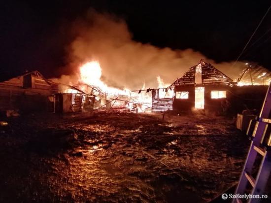 Húsz ház égett le csíkszeredai romatelepen