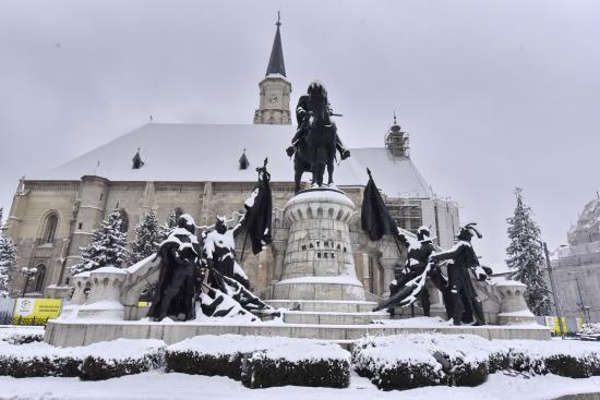 2021 első havazása Kolozsváron