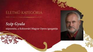 KÓTA Életmű-díjat kapott Szép Gyula