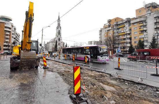 Zajlik a belvárosi utcák felújítása