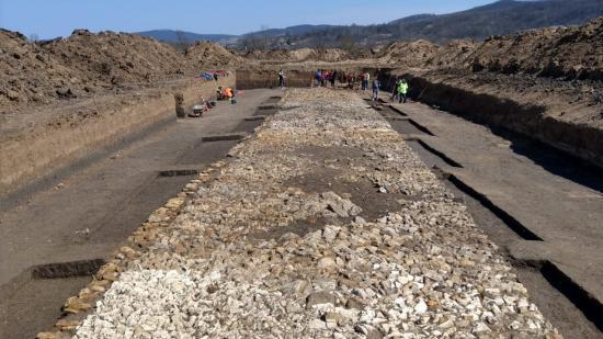 Látványos szakasza bukkant elő az egykori római útnak
