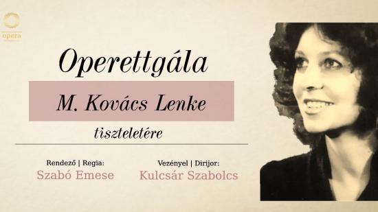 Könyvbemutató és operettgála M. Kovács Lenke tiszteletére