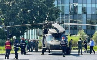 Kényszerleszállást hajtott végre egy helikopter Bukarest belvárosában