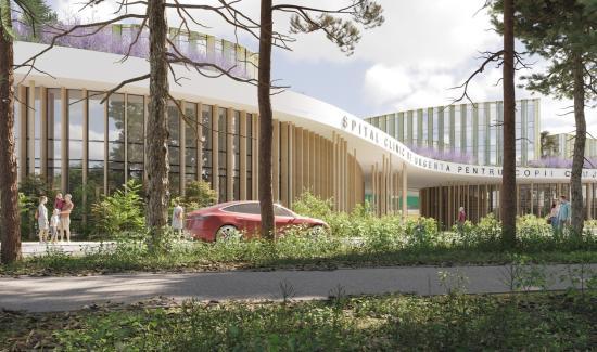 Függőkertje és heliportja is lesz az integrált gyermekkórháznak