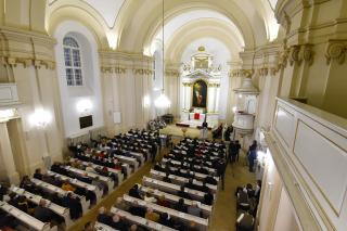 Az evangélikus templom és püspöki székház átadási ünnepsége