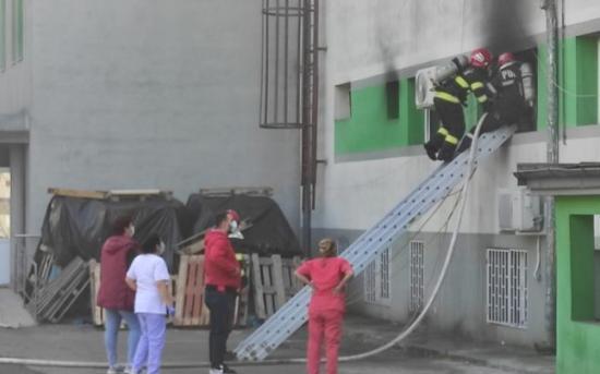 Tűz a konstancai járványkórház intenzív terápiás osztályán (FRISSÍTVE)